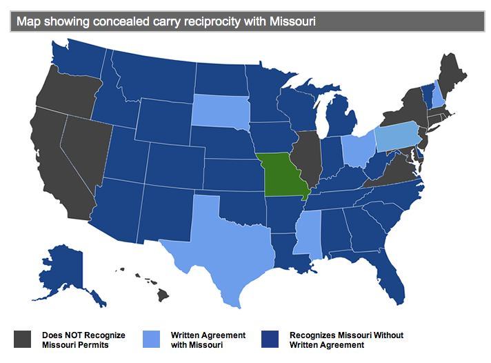 MIssouri Concealed Carry Reciprocity